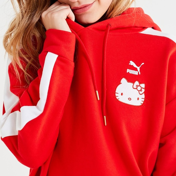 Hello Kitty x Puma Hooded Sweatshirt (NWT) NWT